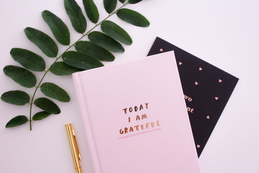 Using a gratitude journal encourages positive thinking.