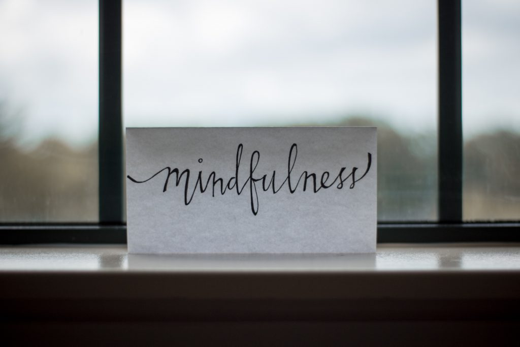 Mindfulness allows us to focus on the present moment.