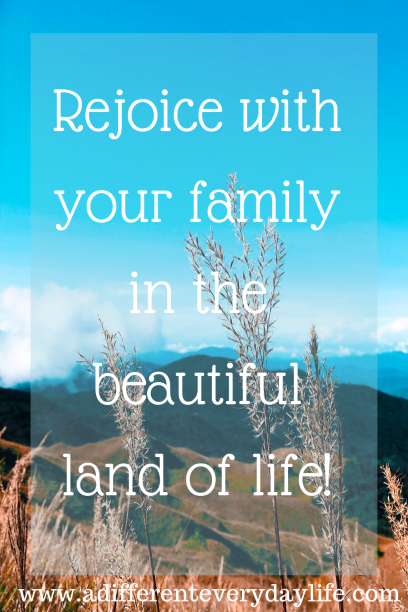 Rejoice with your family in the beautiful land of life! - Albert Einstein