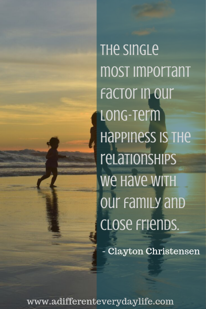 The single most important factor in our long-term happiness is the relationships we have with our family and close friends. - Clayton Christensen