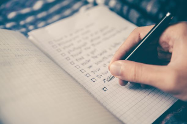 Use 'To Do' lists to keep on track.